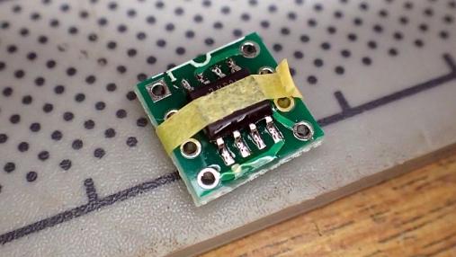 デュアルオペアンプ 変換基板の組み立て (4)