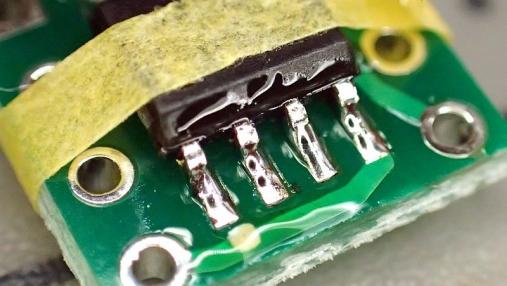 デュアルオペアンプ 変換基板の組み立て (5)