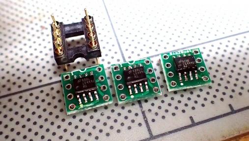 デュアルオペアンプ 変換基板の組み立て (6)