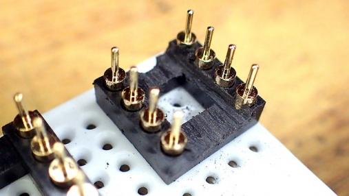 デュアルオペアンプ 変換基板の組み立て (10)