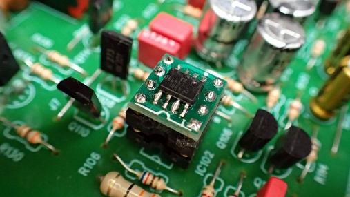 デュアルオペアンプ 変換基板の組み立て (12)