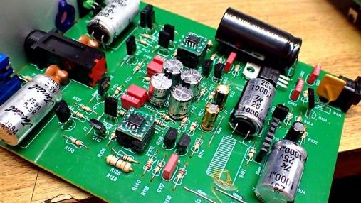 デュアルオペアンプ 変換基板の組み立て (13)