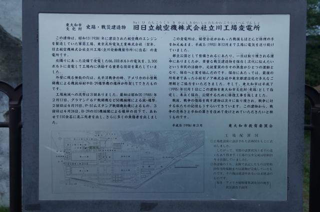 日立航空機立川工場変電所史跡説明書