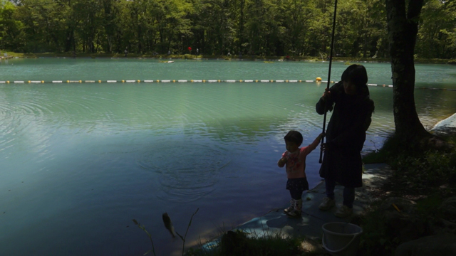 ニレ池で釣