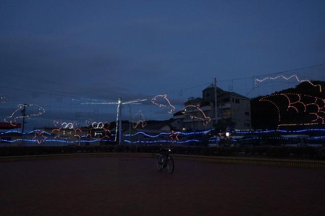 宮崎海岸のイルミ