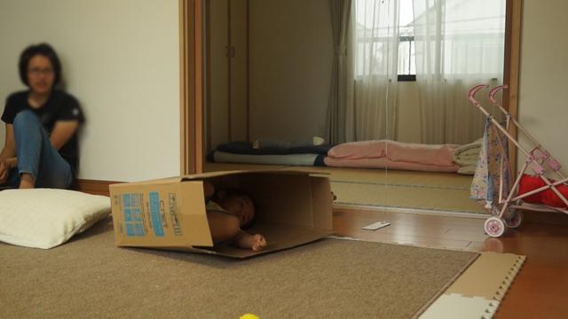 箱に入った子供