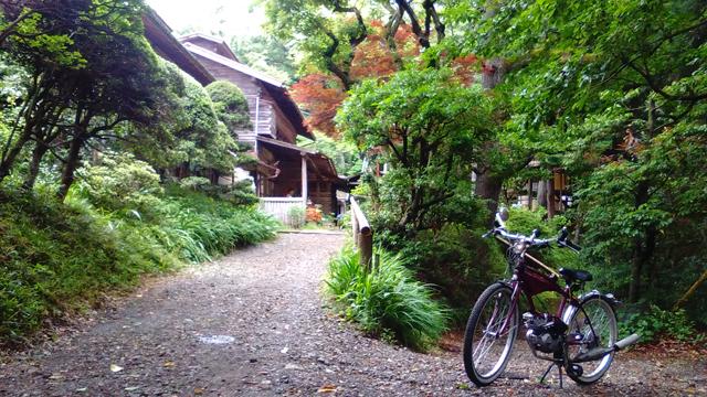鎌田鳥山さんにモペットで予約を師に行く