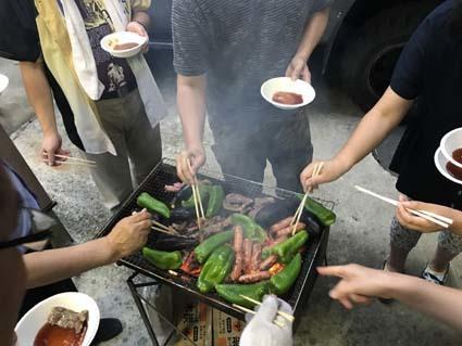 2017夏bbq群がる