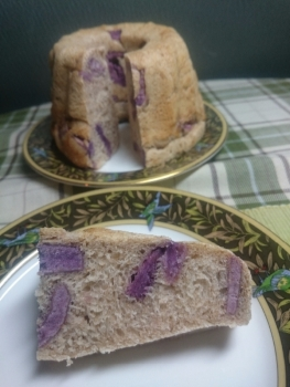 20470908紫芋のクグロフレーズン酵母