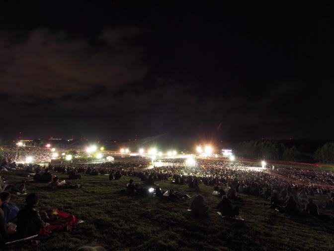 モエレ沼芸術花火開催前の会場の様子