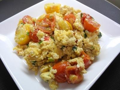 20170814トマトと卵炒め