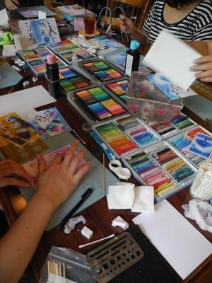 201780830パステル画教室➀