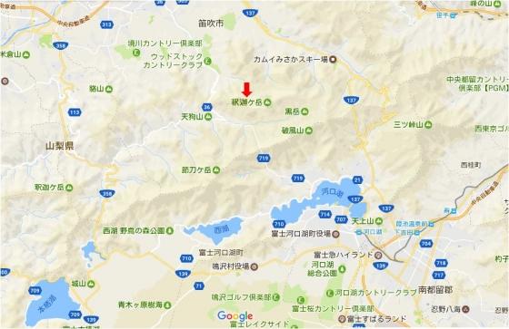釈迦ヶ岳地図