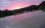 棚田の夕日