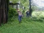ホタルの宿 草刈り