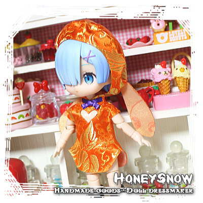 1/12DOLL 【チャイナパンツ★ハロウィンver】 HoneySnow/オビツ11(オビツろいど)、ピコニーモ(LilFairy)、キューポッシュ