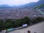 展望台から町を写す