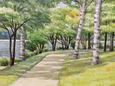 女神湖の遊歩道2