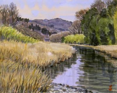 冬の名栗川