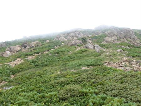 20170827笠ヶ岳頂上へ