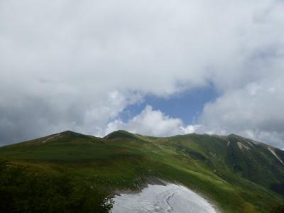 20170910縦走路(本山を望む).