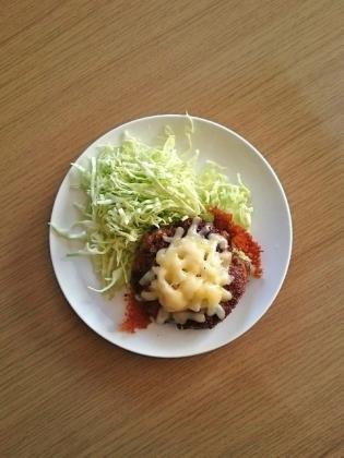 手作りチーズハンバーグ