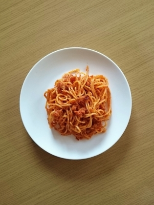 スパゲッティボロネーゼ・ハンバーグ1