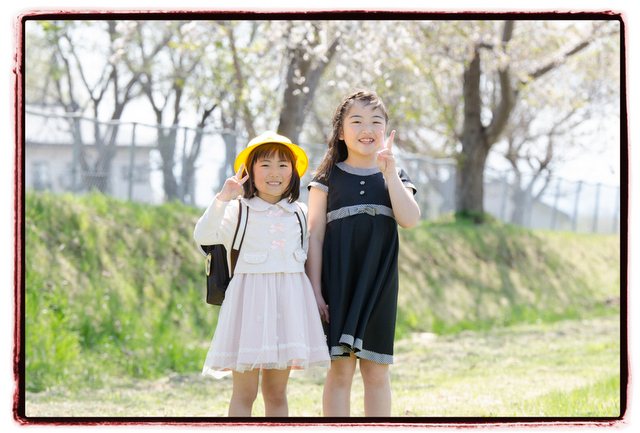 桜 出張 記念 写真 撮影 カメラマン キッズ ロケーション 小学校 入学 家族