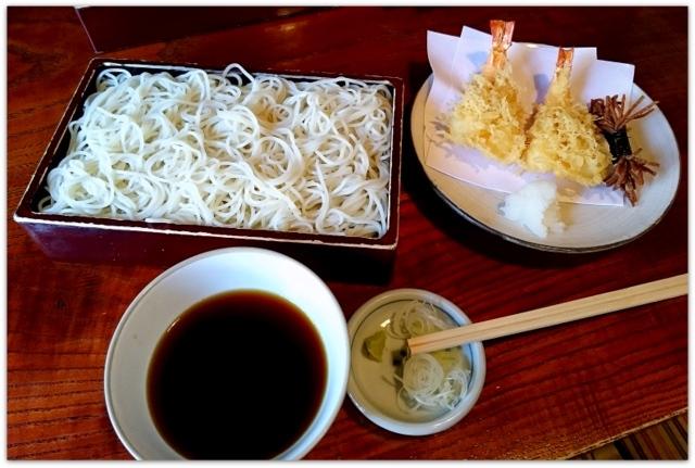 青森県 弘前市 蕎麦 そば 老舗 たかさご 高砂 天ざる 写真 ランチ グルメ