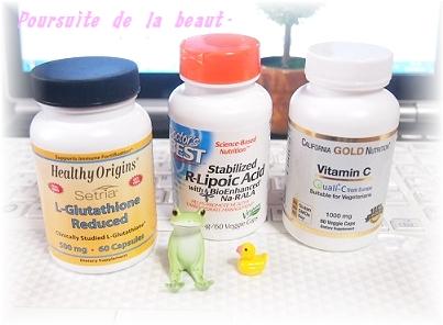 グルタチオン、αリポ酸、ビタミンC