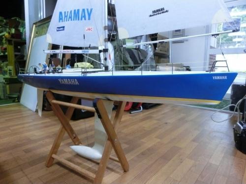 1b_RC 1/20 Yacht|YAMAHA ラウンド・ザ・ワールド♪TAMIYA製 fromヤフオク IMG_1394