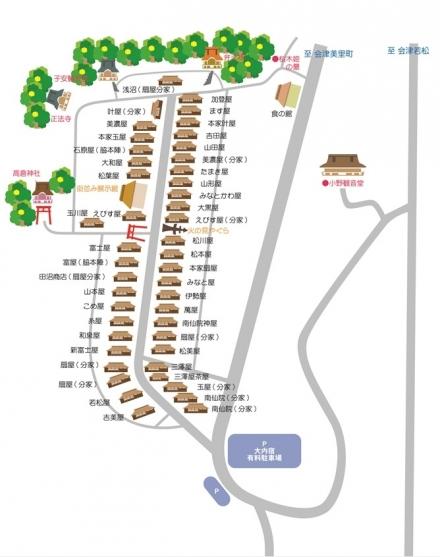 大内宿地図