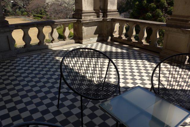 財閥系 邸宅 庭園 テラス