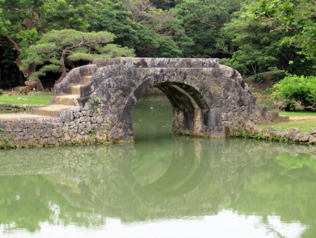 識名園大石橋3