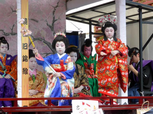 住吉山と子ども歌舞伎b