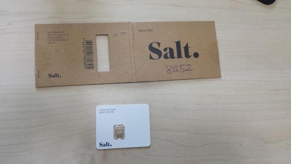 Salt SIMカード