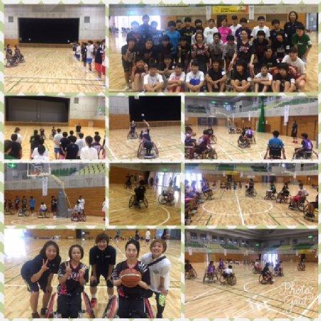 車椅子バスケット体験会