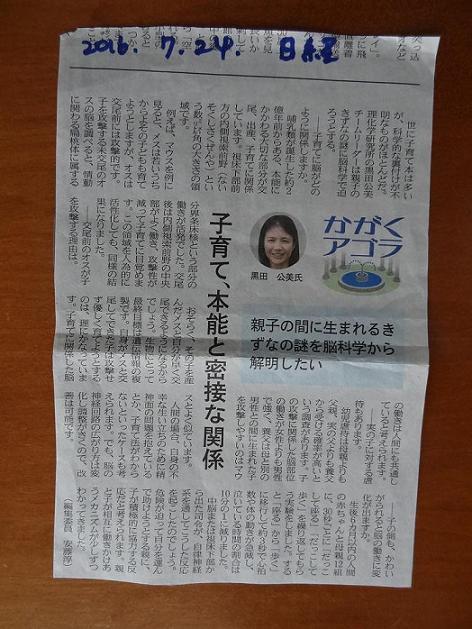 2016年7月24日日経子育て記事