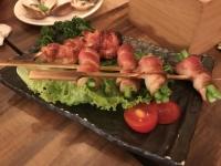 アスパラベーコンと鶏串170606