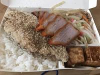 魚排飯チャーシュートッピング170629