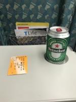 新幹線でハイネケン170808