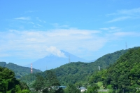 富士山が見えてきた170824