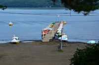 山中湖ボート桟橋170824