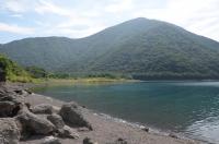 湖畔でキャンプ170824