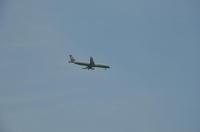 練習場の上は松山空港への着陸ルート170701
