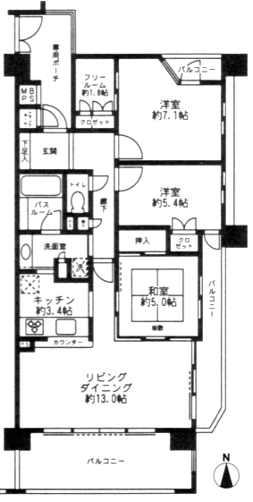 ■物件番号P4925 海が見える部屋!オーシャンビュー!ペット可!分譲マンション賃貸!LDK16.4帖!