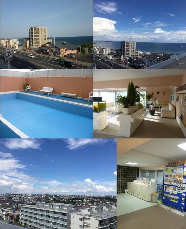 ■共用部分:屋上あり、夏季限定プールあり、コインランドリーあり、ロビーあり