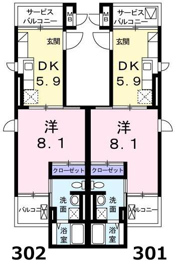 ■物件番号4934 辻堂海側!オートロック付マンション!1DKタイプ!31平米!3階カド!7.35万円!買い物便利!