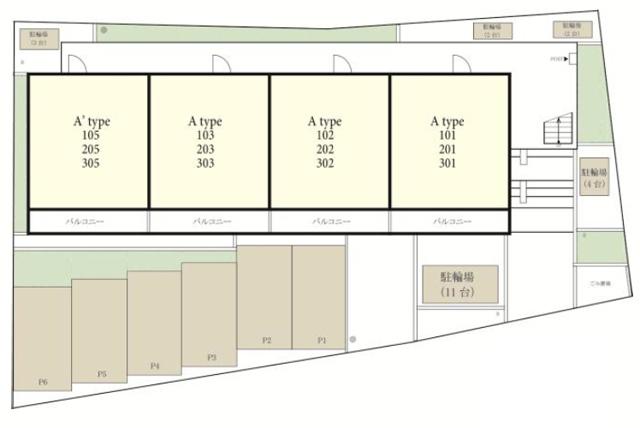 ■物件番号4939 新築マンション!海側!南湖!1LDK!敷地P有り!6.6万円~!限定12世帯!