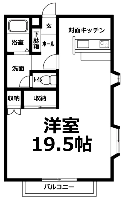 ■物件番号4956 広ーい19.5帖のビッグワンルーム入荷!室内リノベーション済!2階カド!海近い!
